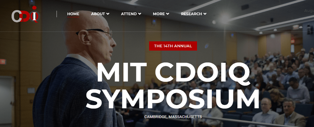 MIT Chief Data Officer and Information Quality (MIT CDOIQ)